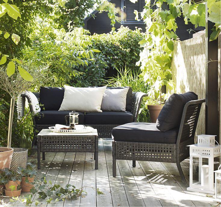 Sitt och loungemöbler för en bekväm uteplats IKEA