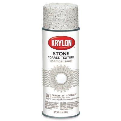 Krylon Make It Stone Spray Paint 12 Oz Charcoal Sand