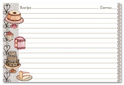 recipe stationery desert recipe cards stationery 13976