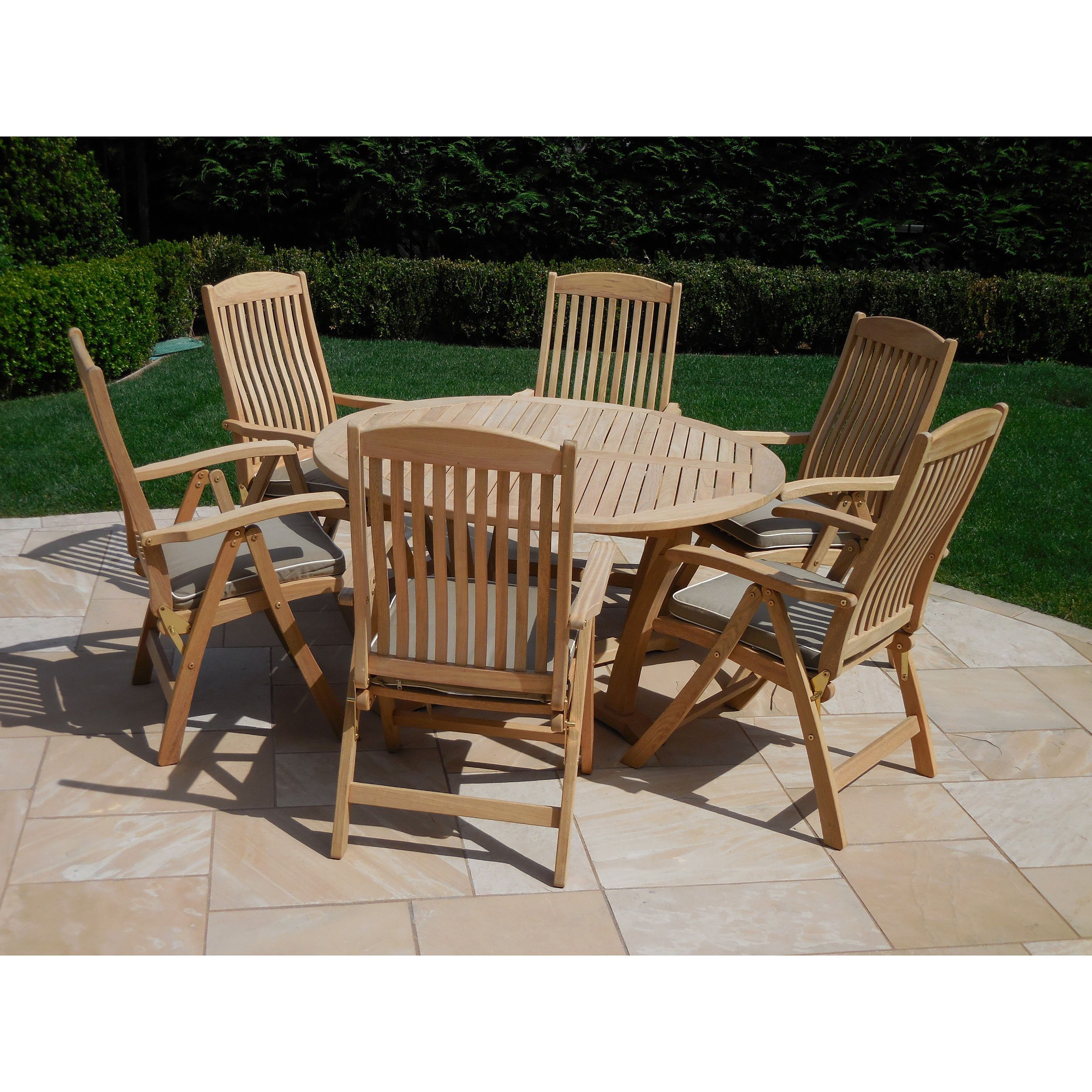 Roble 7-piece Dining Set with Cushions