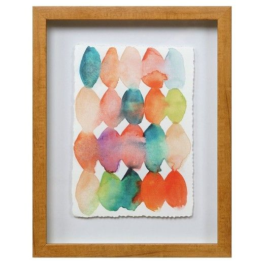 Framed Watercolor Beads 11 X14 Threshold Target Framed