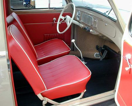 Volkswagen beetle red interior tan and black carpet vw for Interieur new beetle