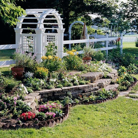 Arbors And Raised Flower Beds