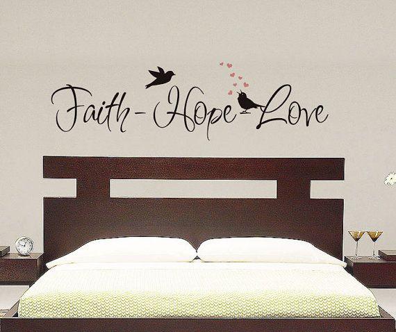 Best Faith Hope Love Wall Decal Vinyl Decal Master 400 x 300