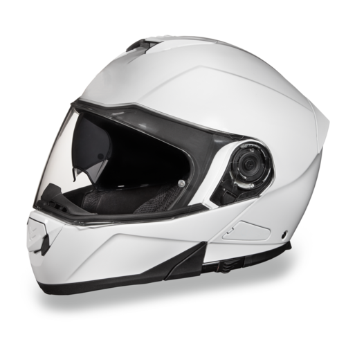 Motorcycle Modular Full Face Helmet Glide HiGloss White