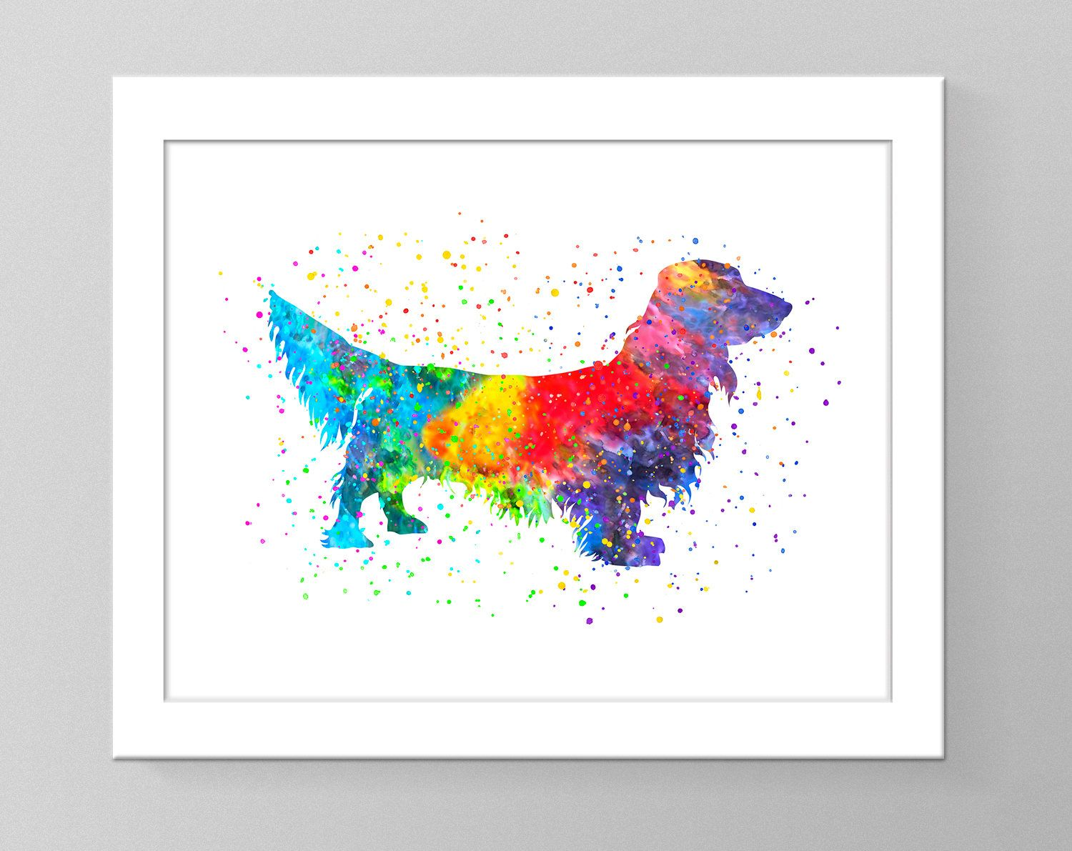 Dachshund Watercolor Wall Art Printable Home Decor Dog Nursery Art