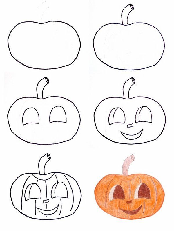 halloween drawing ideas how to draw jack o lantern - How To Draw Halloween Decorations