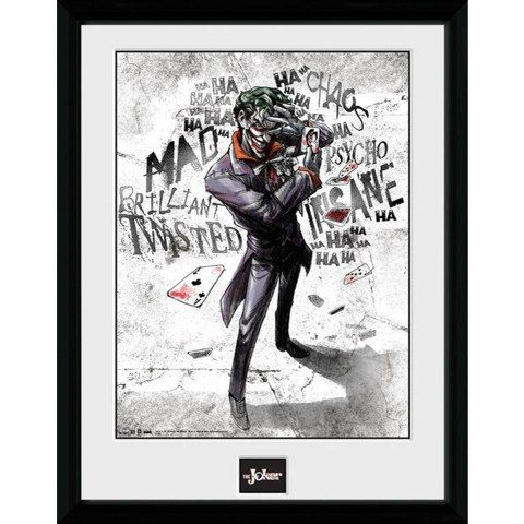 DC Comics Batman Comic Joker Type - Framed Photographic - 16 x 12inch