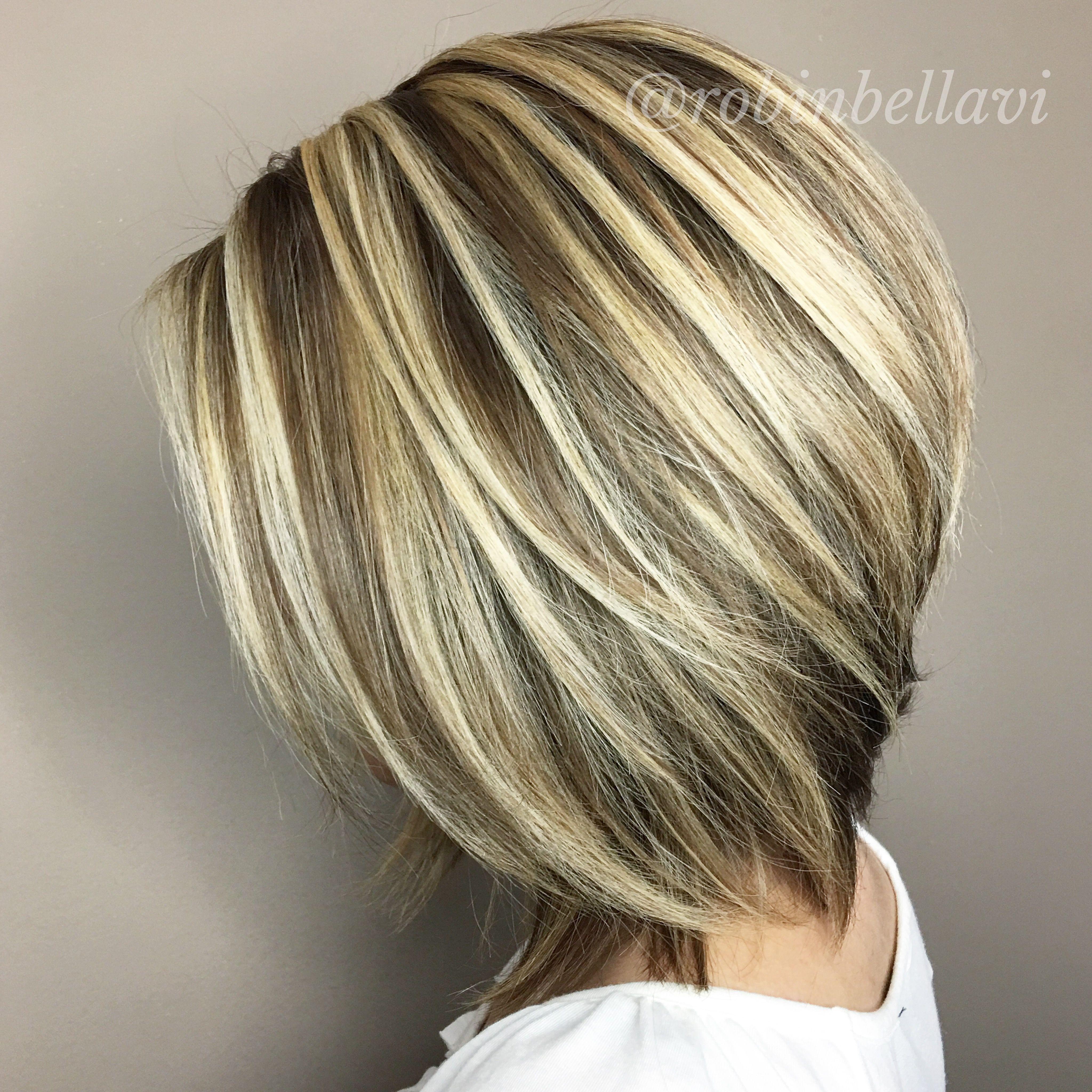 Dimensional Hair Color Flattering Short Haircut Cabelos Moderno