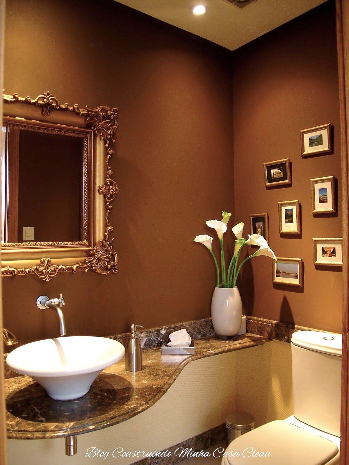 55 lavabos de luxo pequenos e sofisticados moldes for Muebles encantadores del pais elegante