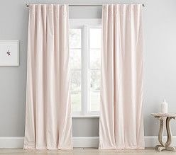 Evelyn Linen Blend Bow Valance Blackout Curtain Blackout
