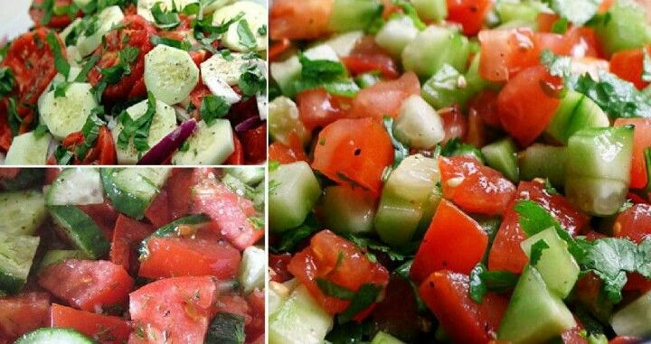 Cuke and tomato salad
