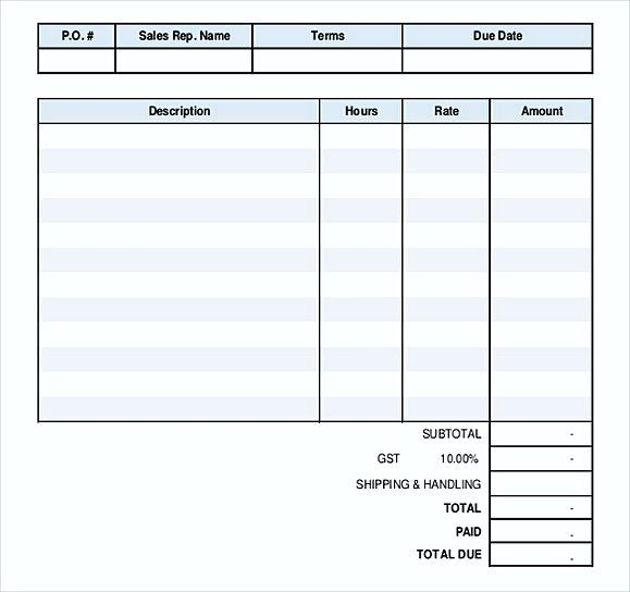 Simple Invoice Template Word , Details Of Simple Invoice Template - shipping invoice template