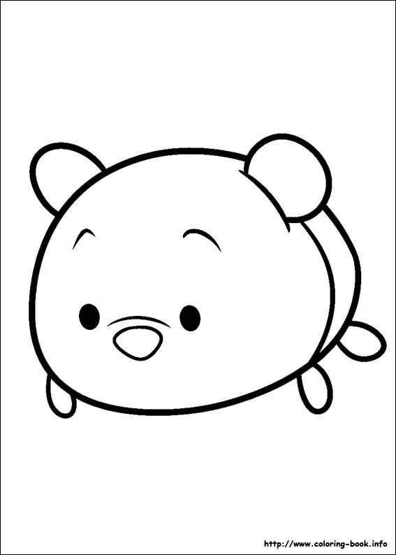 Tsum Tsum coloring picture | Color me pretty - Younger ones ...