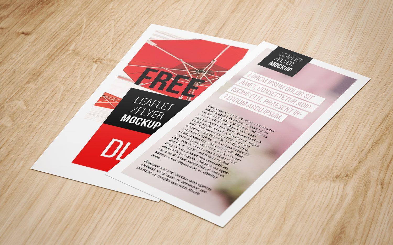 Flyer Free PSD Mockup Business card mock up