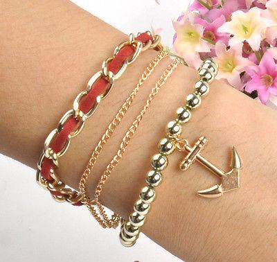 Hot New Infinity Anchor Rudder Nautical Friendship Bracelet Couple Gift Fashion