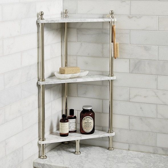 Marble Corner Shelf Diy Shelves Bathroom