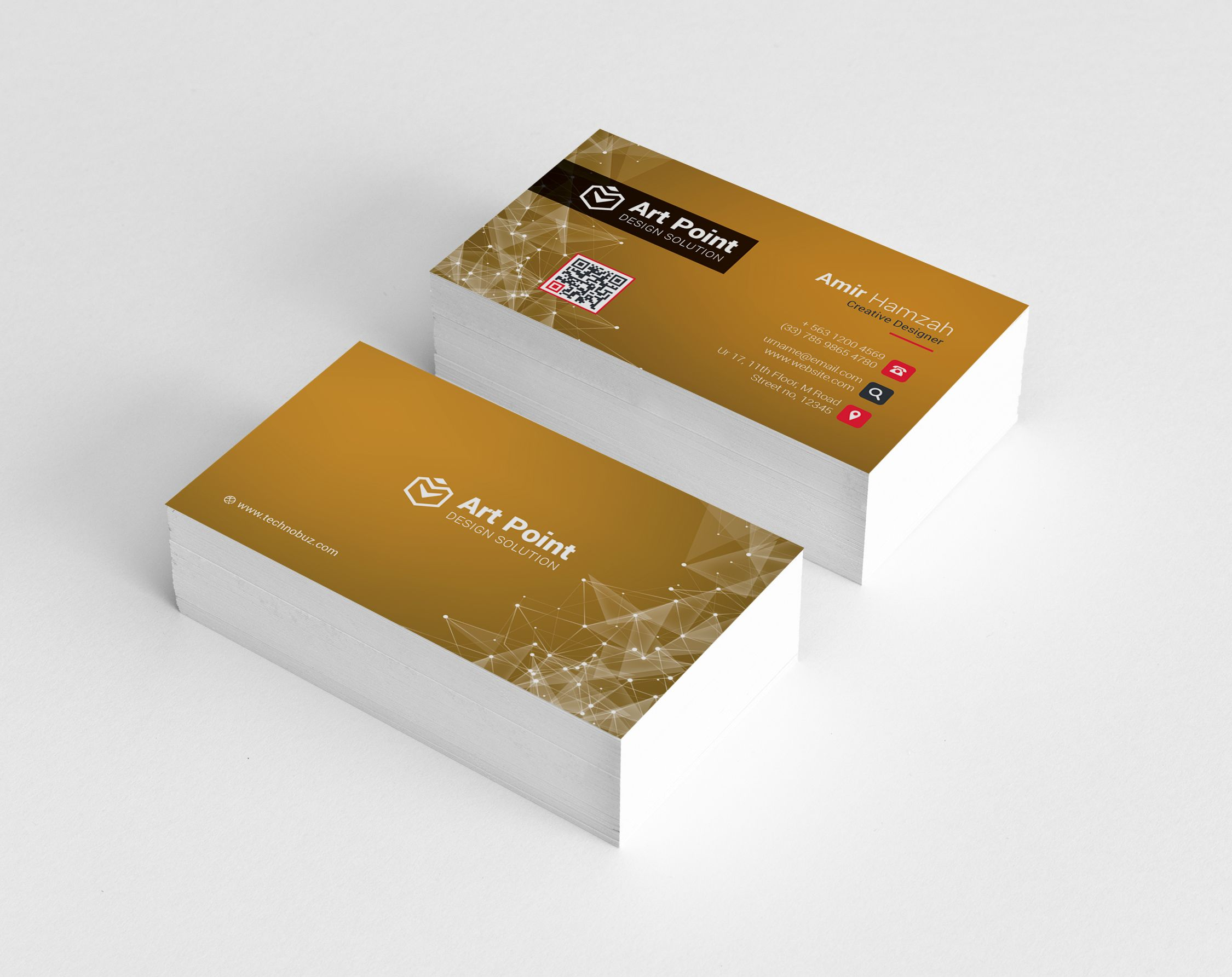 Golden Professional Corporate Business Card Template Graphic Templates Business Card Template Corporate Business Card Business Card Template Design
