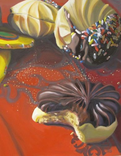 """Cookies"" part of the delicious portfolio of featured artist Jennifer Kahn Barlow. See it on Artsy Shark today."