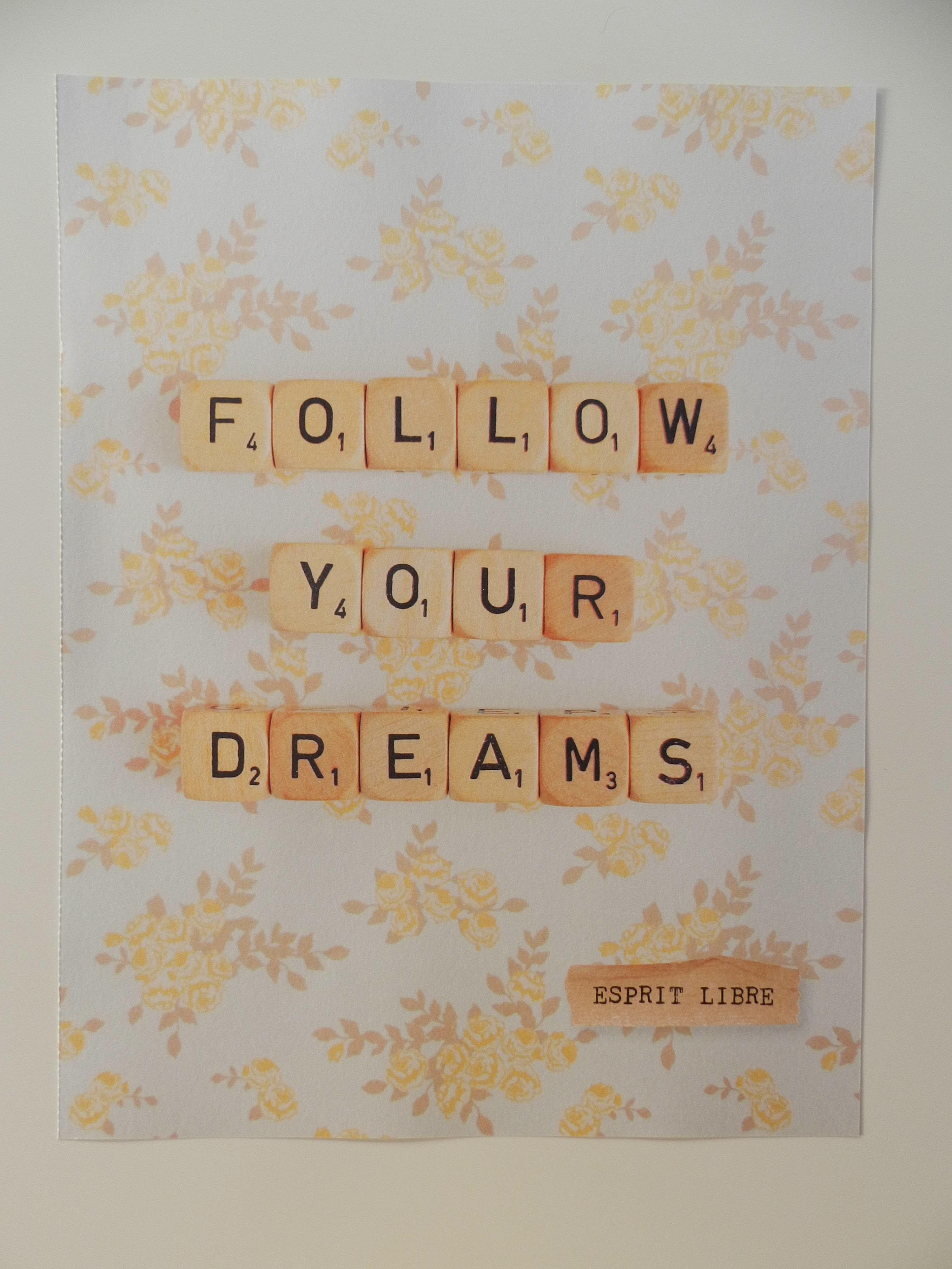Fan de décoration et adepte de la pensée positive, quoi de plus adéquat que de créer une décoration avec de belles affiches de pensée positive!