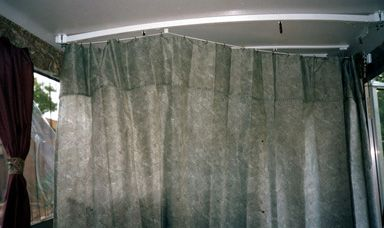 Privacy Curtain In A Pop Up Tent Trailer Pop Up Tent Trailer