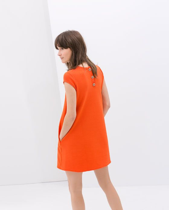 Image 5 of DRESS WITH JEWEL BUTTONS from Zara