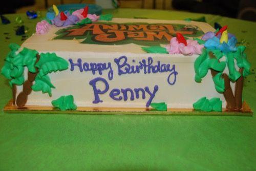 ANIMAL JAM BIRTHDAY CAKE animaljam animaljamcake palmtreecake