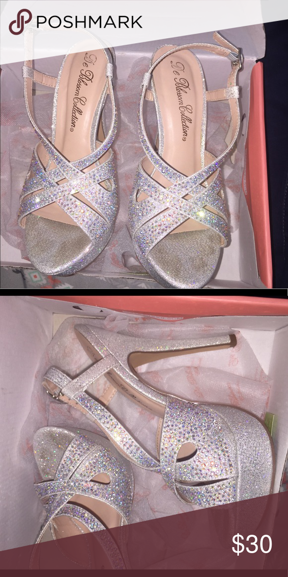 1518905302b Prom shoes Silver sparkly/diamond prom shoes only worn once. Shoes ...