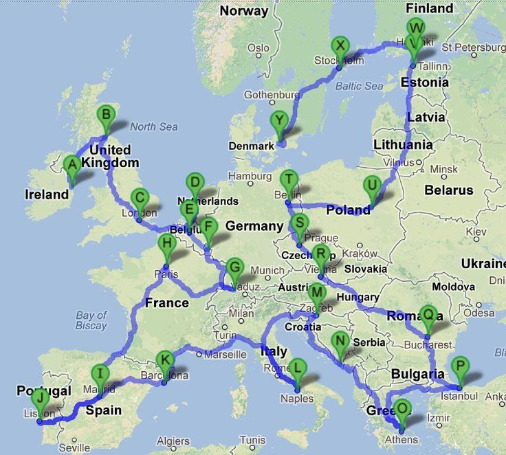Plan My Europe Trip Map – Map My Trip
