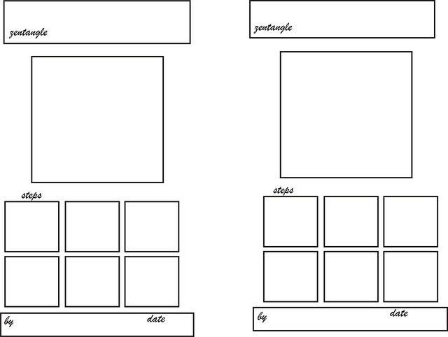 Zentangle Pattern card  | Zentangle Tutorials | Zentangle