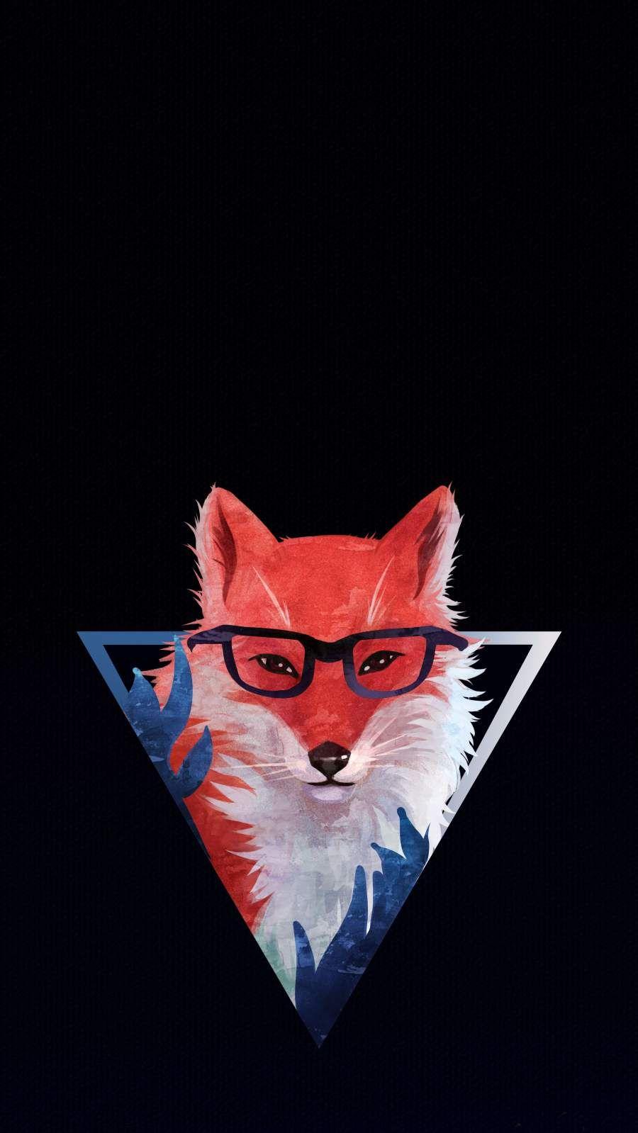 Triangle Fox Wallpaper Liška obecná