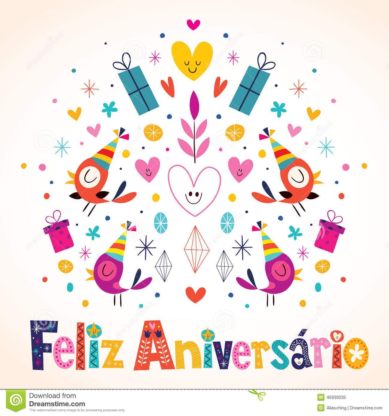 Anivers rio de Feliz Aniversario Brazilian Portuguese Happy Foto – Portuguese Birthday Cards