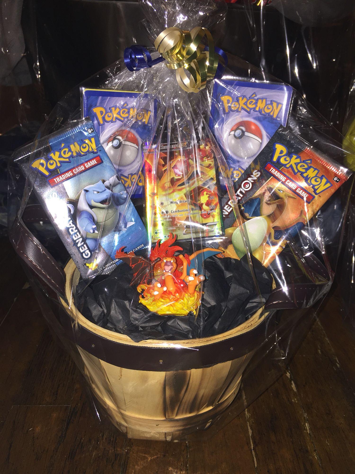 Pokemon gift basket fundraiser pinterest easter gift and pokemon gift basket negle Image collections