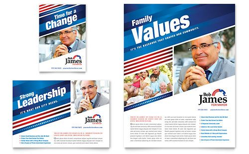 Political Campaign Ad - Word Template  Publisher Template Work - political brochure