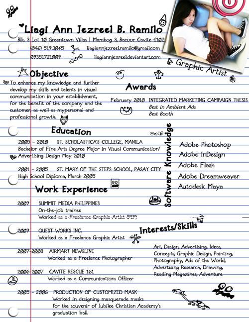 The  Most Creative Resume Designs Ever  Graphic Designer Resume
