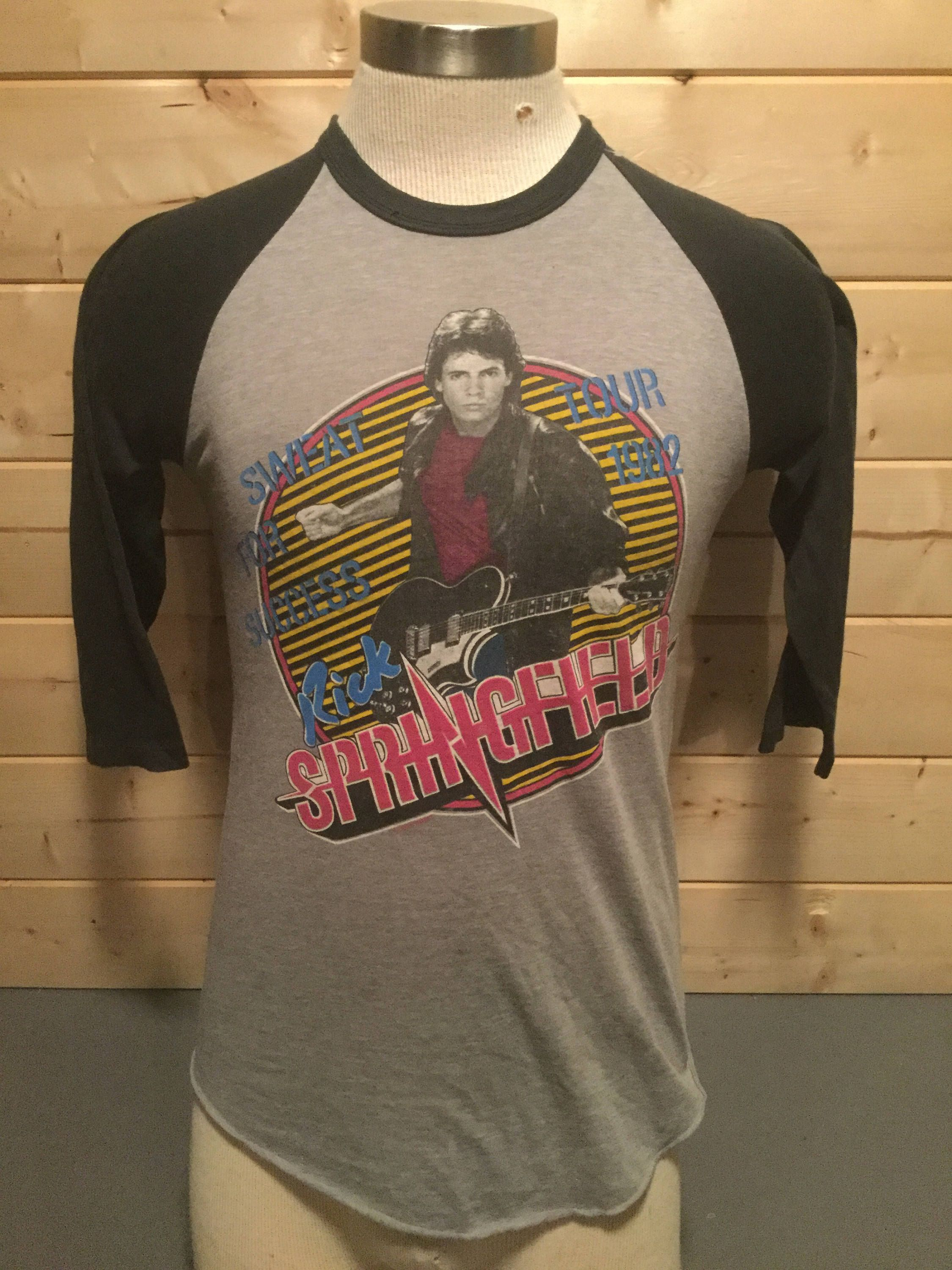 Vintage 1982 Rick Springfield Tour 50 50 Raglan T-Shirt Great Color Made in  USA by 413productions on Etsy 509aeaf58