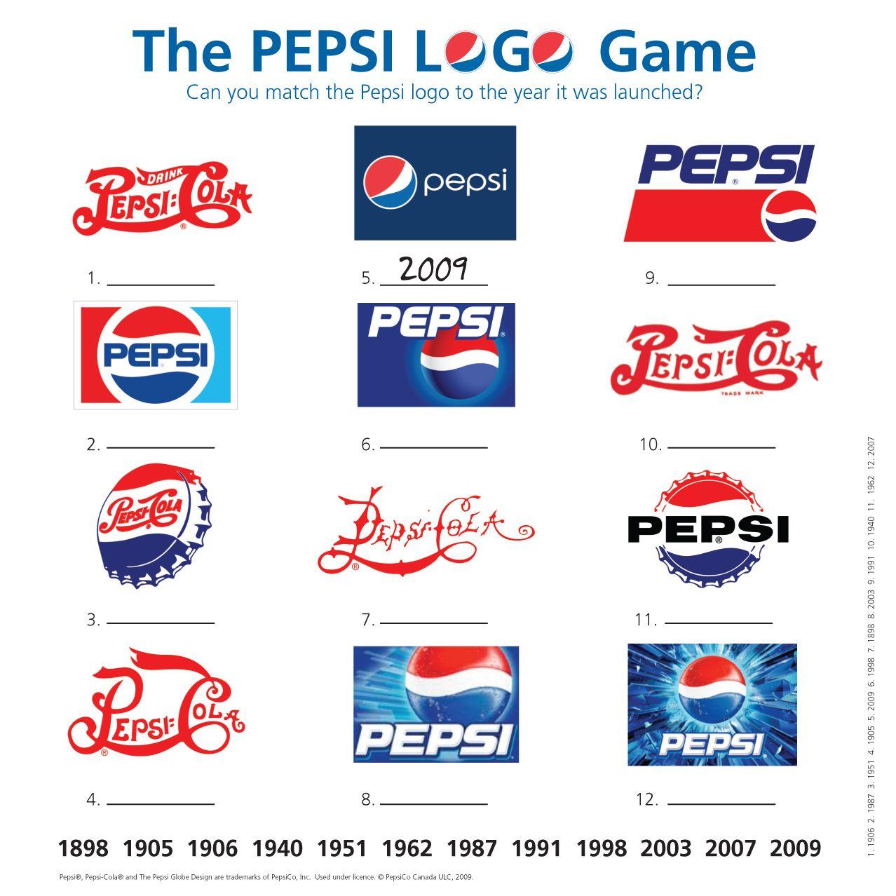 The pepsi logo game pepsicoca cola fanta pinterest the pepsi logo game buycottarizona