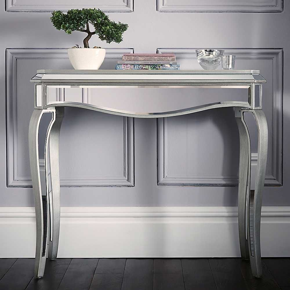 Reflections Mirrored Console Table Console Table Tv