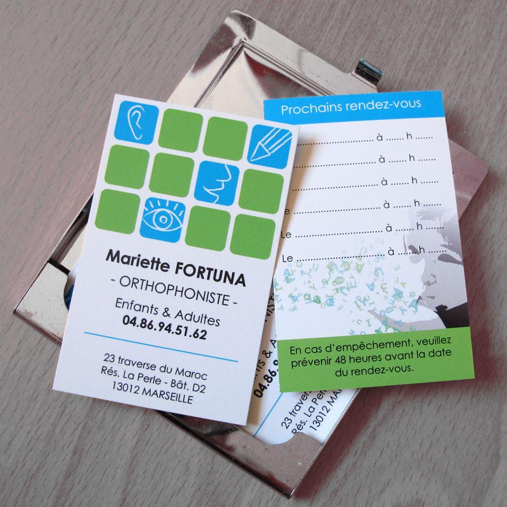 Cartes De Visite Pour Une Orthophoniste C 2011 Carte De Visite