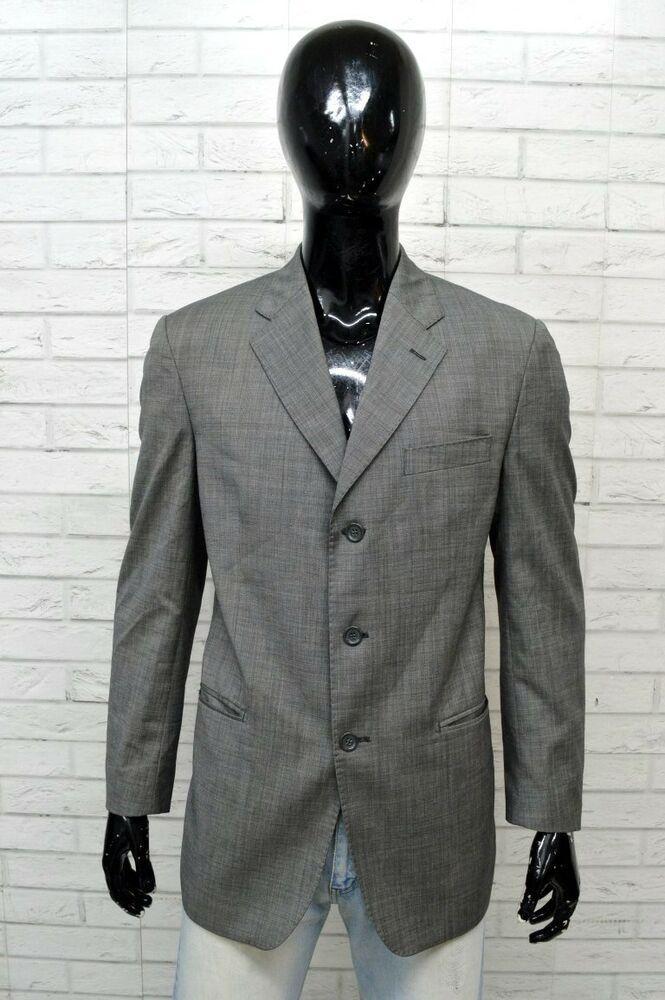 1bffaed1dfb9 Giacca Uomo YVES SAINT LAURENT Taglia 52 Jacket Man Blazer Grigio Lana  Vergine