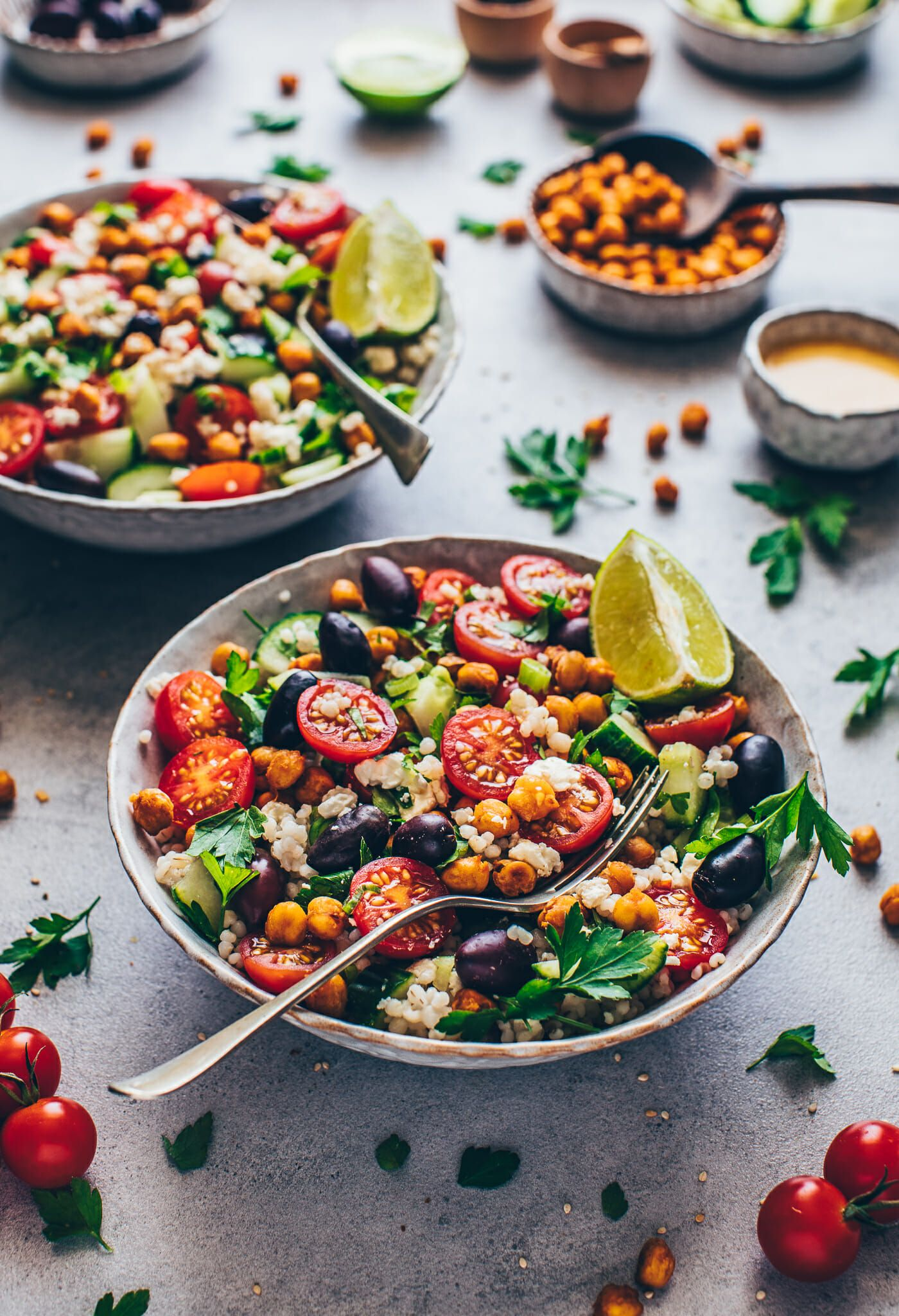 Photo of Mediterranean Chickpea Salad | Simple, vegan – Bianca Zapatka | Recipes