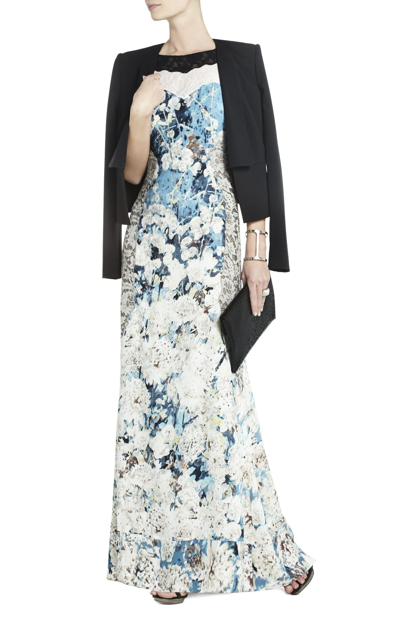 What to wear over a sleeveless dress to a wedding  Provence Sleeveless OpenBack Gown  BCBG  la moda  Pinterest