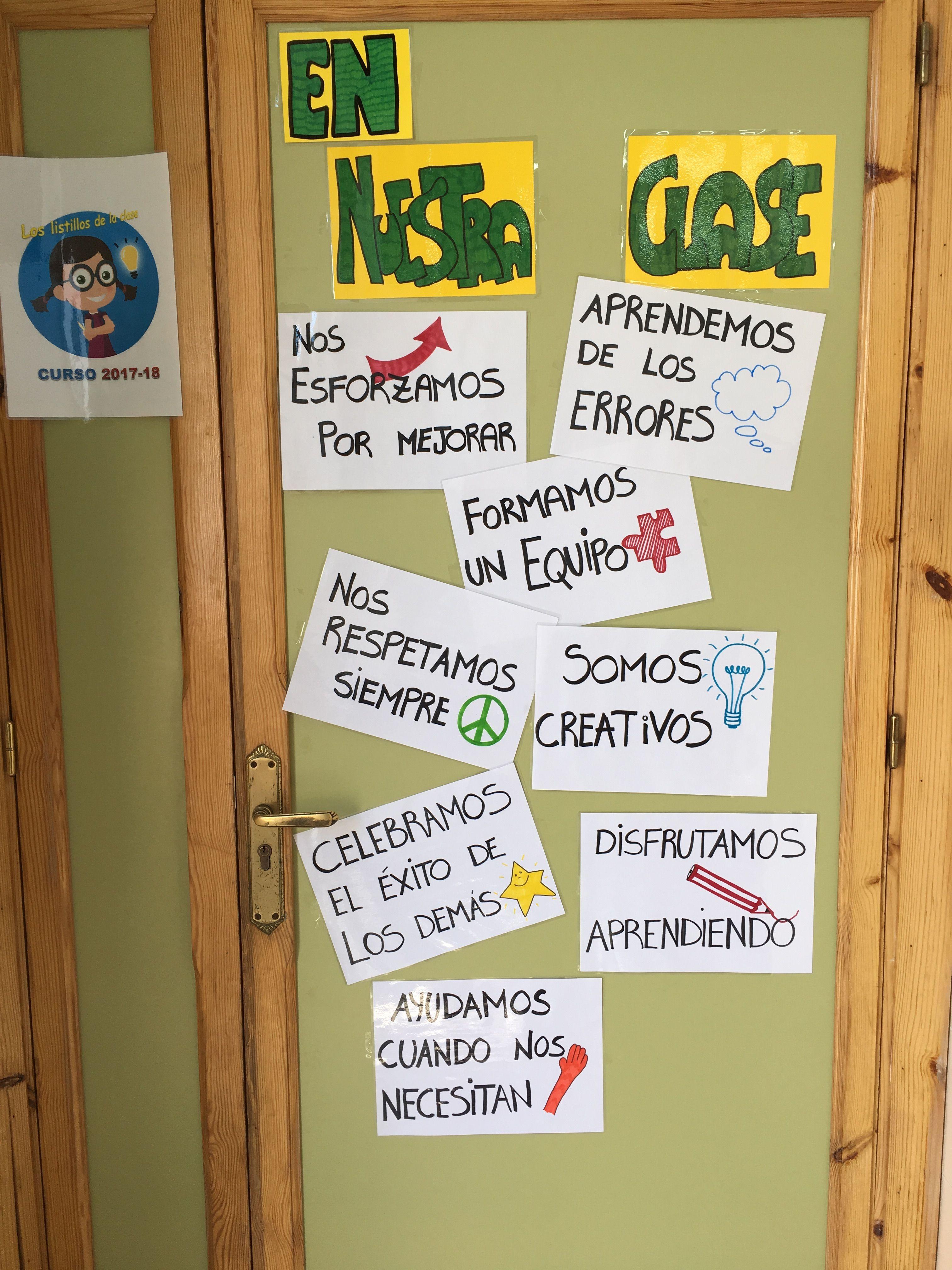 Ideas Para El Aula Frases Para El Aula Decoracion De Aulas Normas Del Aula