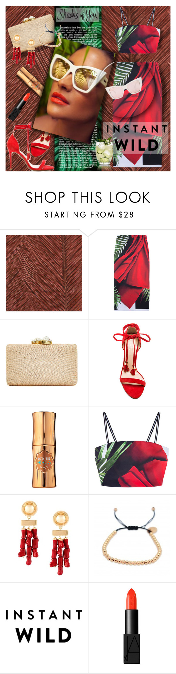 """summer soiree"" by lilith1521 ❤ liked on Polyvore featuring ARTE, Clover Canyon, Kayu, Raye, Benefit, Balmain and NARS Cosmetics"