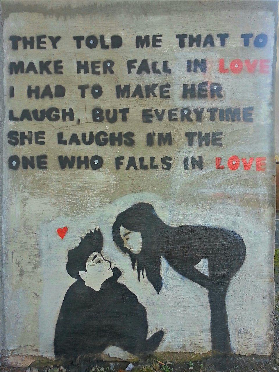Street Art in Chorley, England - Make Her Laugh