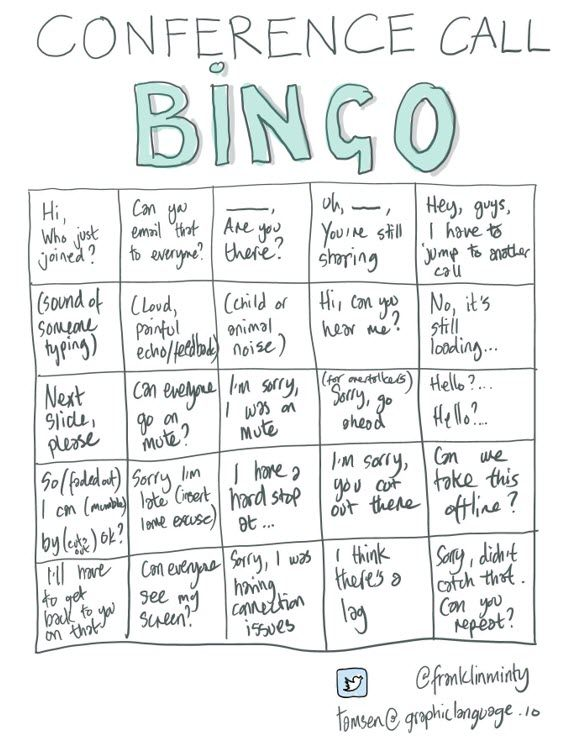 Bad Meetings Are Boring And Ineffective Conference Call Bingo