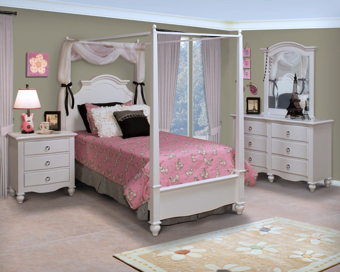Beautiful Youth Bedroom Canopy Bedroom Set