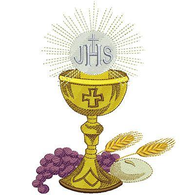 Calice Com Pao Trigo E Uvas 15cm Ministro Da Eucaristia Designs