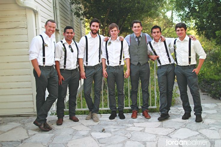 Weddings Love This The Groomsmen Wear Suspenders No Tie Or Bow And