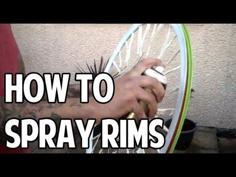 How To Spray Your Bicycle Rims Youtube Bicycle Paint Job